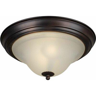 Votaw Energy Efficient 2-Light Flush Mount Size: 13.25 H x 6 W