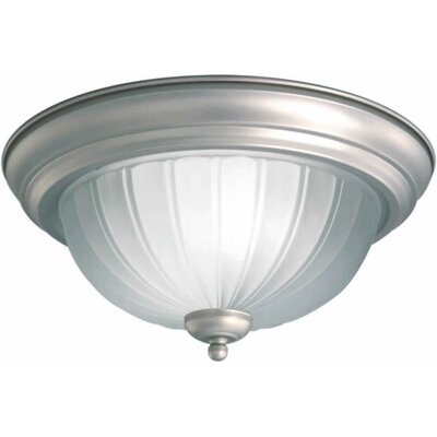 1-Light Flush Mount Size / Finish: 15.25 H x 6.5 W / Brushed Nickel