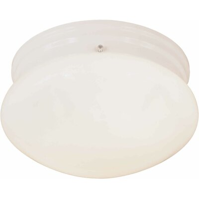 2-Light Opal Flush Mount Finish: White