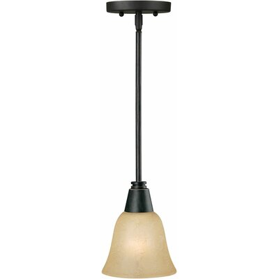 Vidal 1-Light Mini Pendant Finish / Shade: Bordeaux / Gold Dust