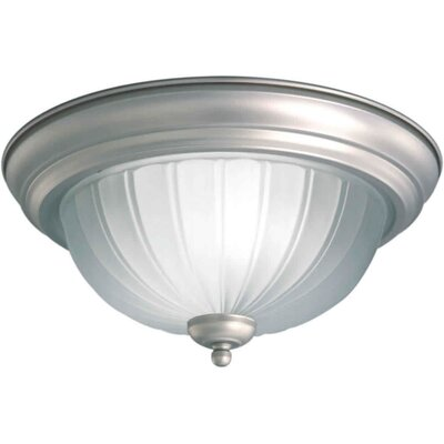 1-Light Flush Mount Size / Finish: 13.25 H x 6.25 W / Brushed Nickel