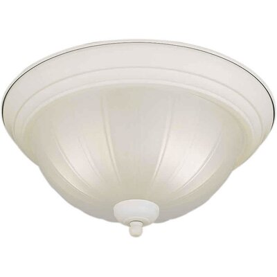 1-Light Flush Mount Size / Finish: 13.25 H x 6.25 W / White
