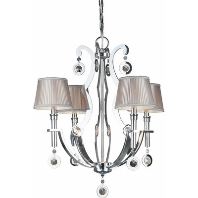 4-Light Shaded Chandelier
