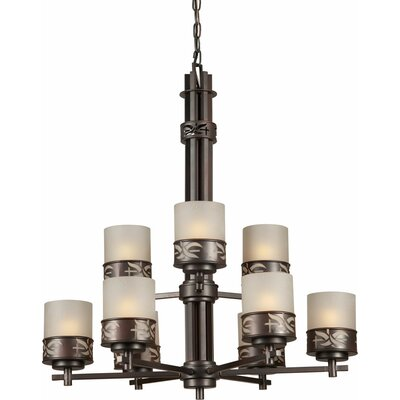 Highsmith 9-Light Shaded Chandelier