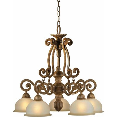 Boughner 5-Light Shaded Chandelier