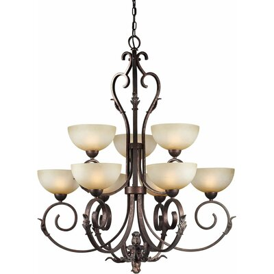 Bordeaux 9-Light Shaded Chandelier