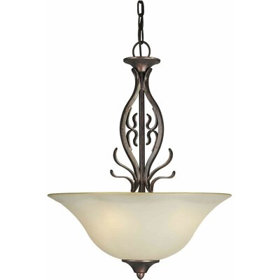 Cordia 3-Light Bowl Inverted Pendant