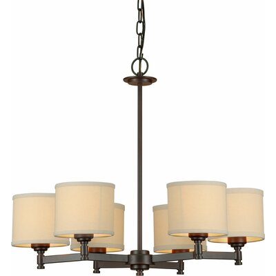 Waldrup 6-Light Shaded Chandelier