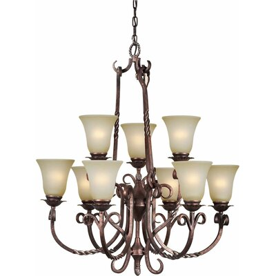 Blanca 9-Light Shaded Chandelier