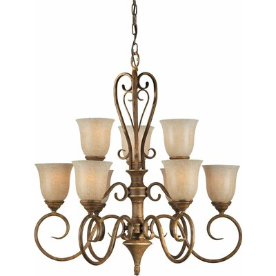 Bewley 9-Light Shaded Chandelier