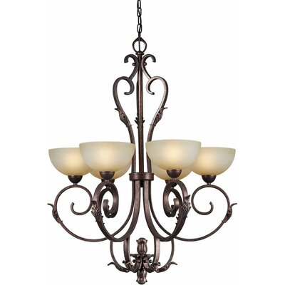 Borchert 6-Light Shaded Chandelier