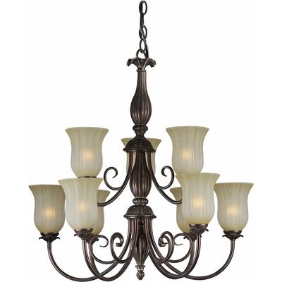 9-Light Shaded Chandelier