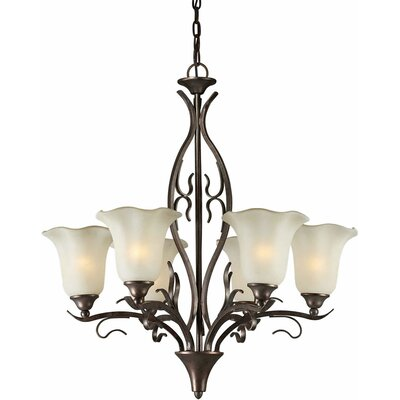Cordia 6-Light Shaded Chandelier
