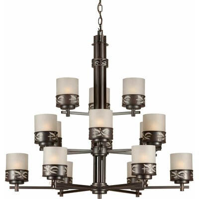 Higuchi 15-Light Shaded Chandelier