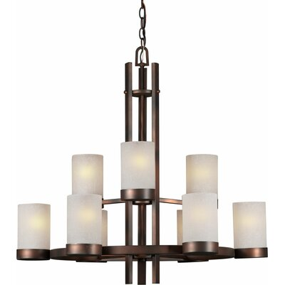 Mcmurtry 9-Light Shaded Chandelier