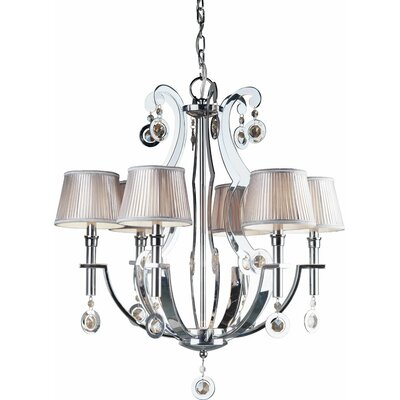 Kirksey 6-Light Shaded Chandelier