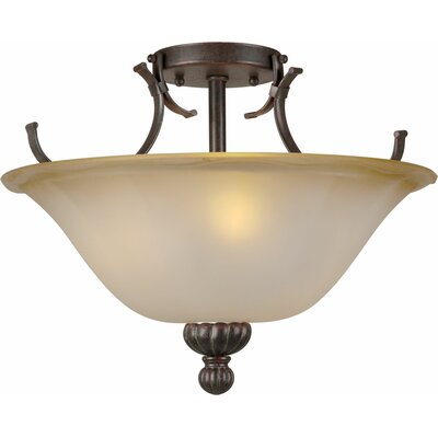 Bourn 3-Light Semi-Flush Mount