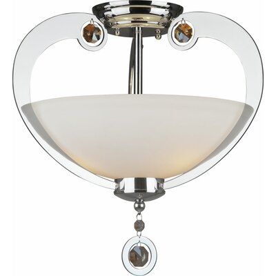Kamen 3-Light Semi Flush Mount