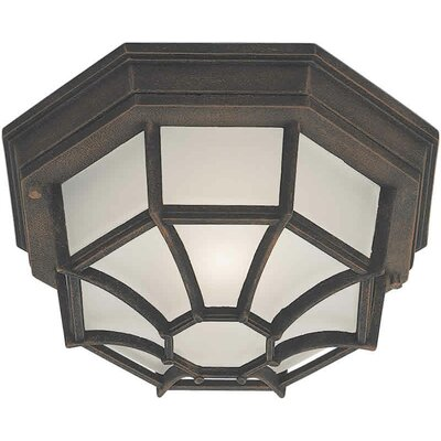 1-Light Flush Mount Finish: Painted Rust