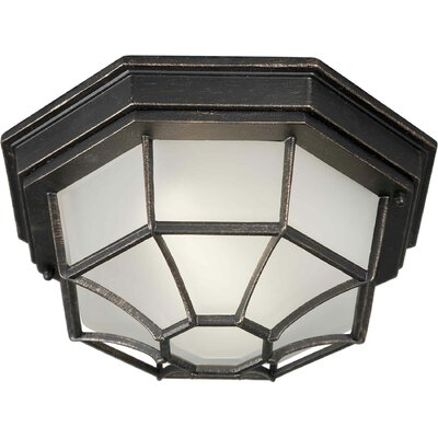 Vollmer 1-Light Flush Mount Finish: Bordeaux