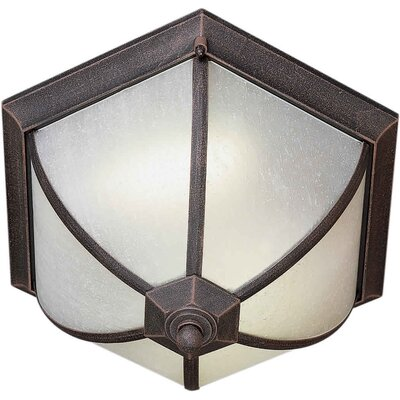 Voorhies 2-Light Flush Mount Finish: Painted Rust