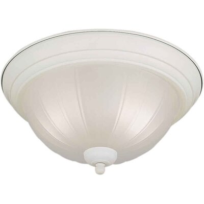 11.25 2-Light Flush Mount Size / Finish: 11.25 H x 6 W / White