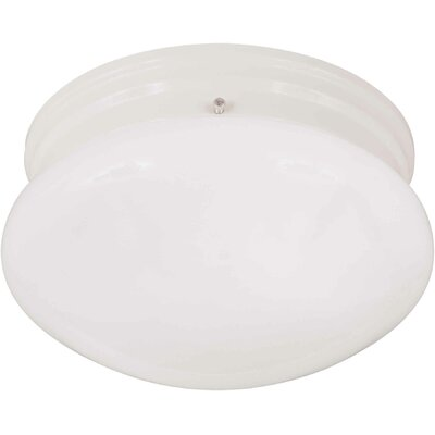 Mckissick 1-Light Flush Mount Size / Finish: 7.5 H x 5 W / White
