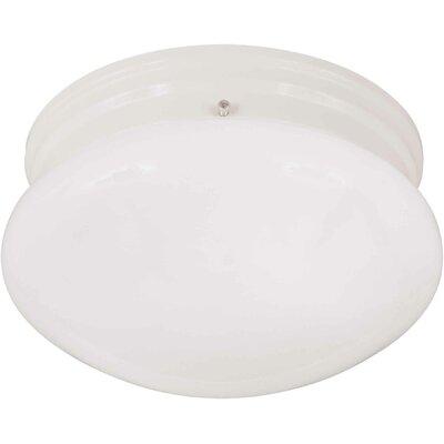 1-Light Flush Mount Size / Finish: 7.5 H x 5 W / White
