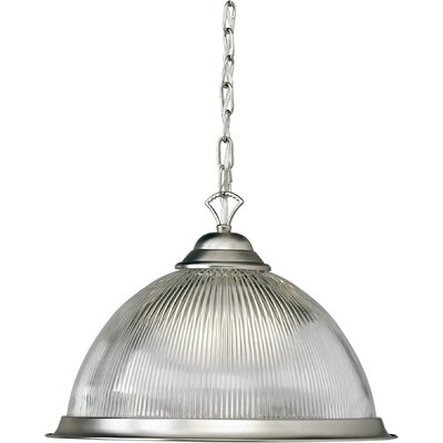 1 Light Pendant Finish: Brushed Nickel