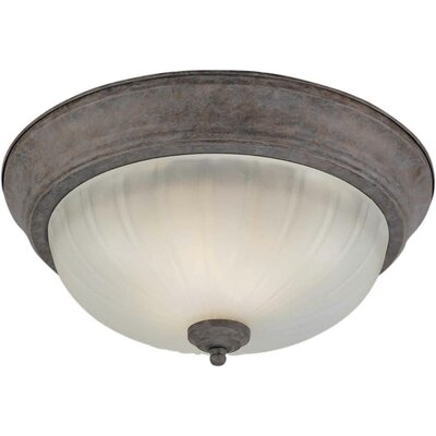 Viles 1-Light Flush Mount Size / Finish: 11.25 H x 6 W / Desert Stone