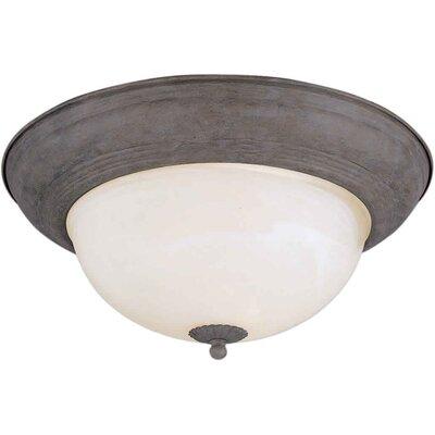 Vigue 1-Light Flush Mount - Marble Glass Size / Finish: 14 H x 6 W / Desert Stone
