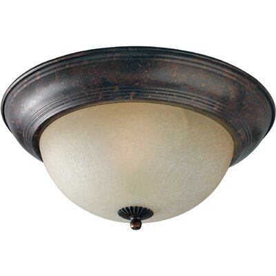 Vigna 11.75 1-Light Flush Mount Size: 11.75 H x 5.5 W, Finish: Rustic Spice