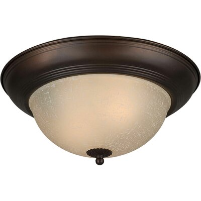Vigna 11.75 1-Light Flush Mount Size: 14 H x 6 W, Finish: Rustic Spice
