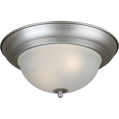 Vigna 11.75 1-Light Flush Mount Size: 11.75 H x 5.5 W, Finish: Brushed Nickel