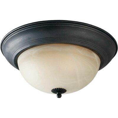 Vigna 11.75 1-Light Flush Mount Size: 11.75 H x 5.5 W, Finish: Bordeaux