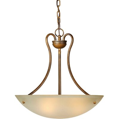 3-Light Bowl Inverted Pendant