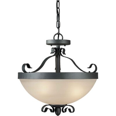 Four Light Convertible Pendant in Natural Iron
