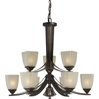Vanzandt 9-Light Shaded Chandelier