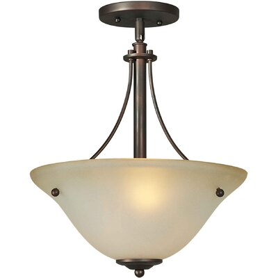 Vidrio 2-Light Sloped Semi Flush Mount Finish: Antique Bronze / Umber