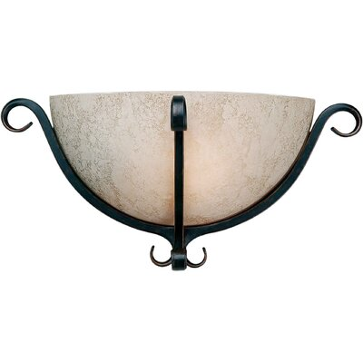 One Light Wall Sconce with Tapioca Shade in Bordeaux