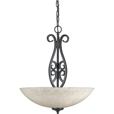 Luther 3-Light Bowl Inverted Pendant Size: Large