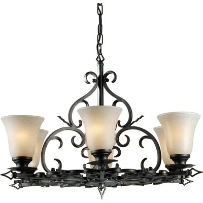 Borquez 6-Light Shaded Chandelier