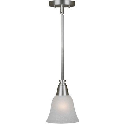 Vidal 1-Light Mini Pendant Finish / Shade: Brushed Nickel / White Linen