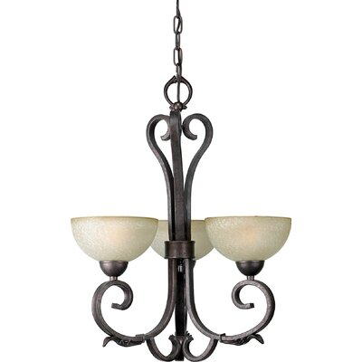Borchers 3-Light Shaded Chandelier