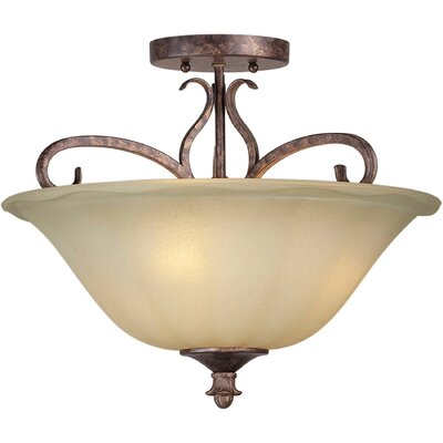 13 3 Light Semi Flush Mount