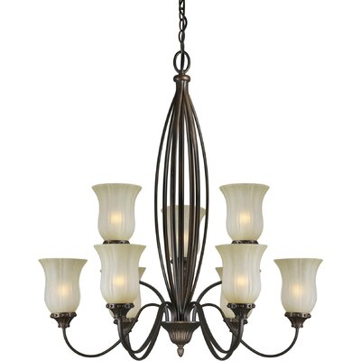 Vicini 9-Light Shaded Chandelier