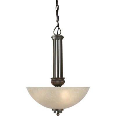 3-Light Bowl Inverted Pendant Size: 22.5 H x 16 W