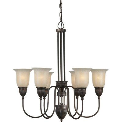 Vanzandt 6-Light Shaded Chandelier