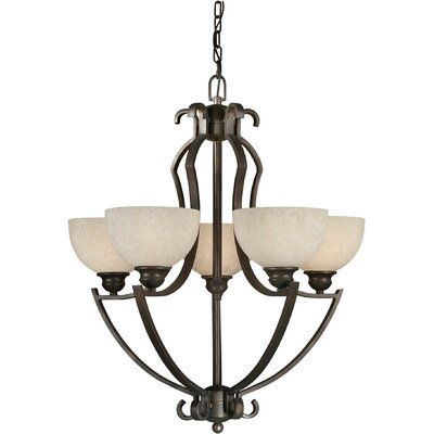 Vanzandt 5-Light Shaded Chandelier