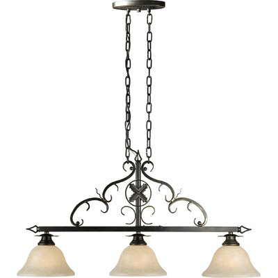 3-Light Island Pendant in Bordeaux
